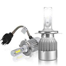 COPPIA LAMPADE LED DA AUTO FARI H4 MOTO KIT LAMPADINE 7600LM- 3800LM A LAMPADINA