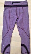 LULULEMON RUN INSPIRE CROP II PANTS Heathered Berry Yum Yum Grape size 4 EUC Gym