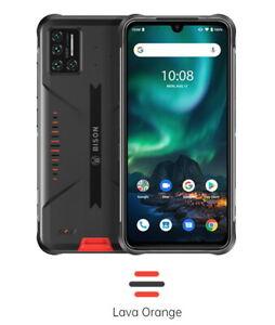Umidigi Bison orange, 48mp Kamera, robust wasserdicht Smartphone, 6/128gb, NFC