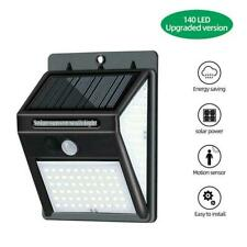 140LED Threesided Solar Lamp PIR Motion Sensor Wall Light Waterproof Garden W7L4