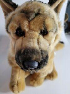 "FAO SCHWARZ German Shepherd Plush 14X13X6"" Sitting Dog Stuffed Animal TOYS R US"