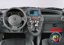 ADESIVO STICKERS 3D 3M PVC 35 MM PER VOLANTE LOGO ABARTH BADGE FIAT PANDA 100 HP