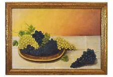 Antique Still Life Grapes Oil on Canvas