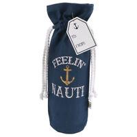 Nautical Anchor Cotton Canvas Wine Tote Bag 20504A