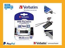 Verbatim Store'n'Go OTG Smart Phone USB A to USB Micro Drive 16GB Black 64496