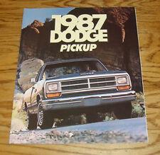 Original 1987 Dodge Truck Pickup Sales Brochure 87 D150 250 350