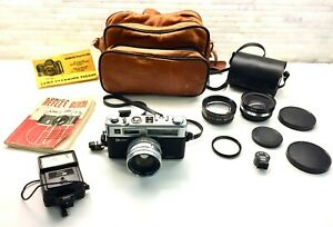 YASHICA ELECTRO 35 GSN Spiderman Model W/ 3 Lens & Lots'a Accessories!  JAPAN