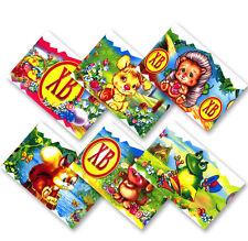 Little Animals, Easter Egg Shrink Wraps/Stickers Egg Decoration, set of 6, Craft
