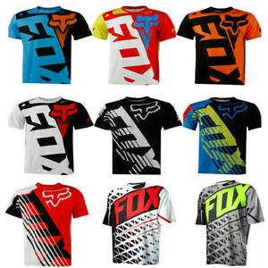 FOX Race Riding Jersey T-shirts Men Motocross/MX/ATV/BMX/MTB Dirt Bike Top