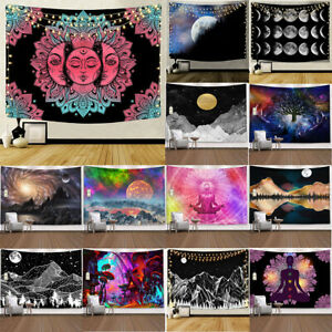 Sun Moon Mandala Hippie Tapestry Wall Hanging Beach Carpet Bed Sheet Yoga Mat