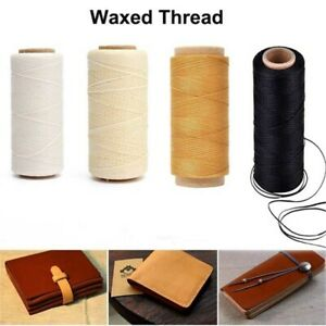 30m/roll Durable Flat Hand Stitching DIY Cord Waxed Thread Sewing Line Leather