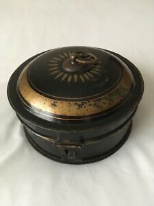 Antique Toleware Spice Tin With Nutmeg Grater