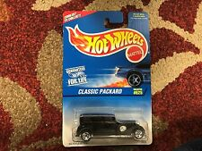 HOT WHEELS BLACK CLASSIC PACKARD 30s STYLESETTER COLLECTOR #625 NIP!!