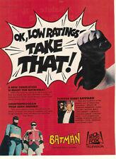 Adam West Burt Ward Batman 1983 Ad- OK Low Ratings Take That! /Burgess Meredith
