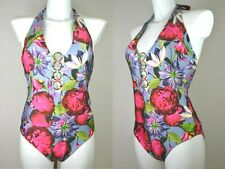 NEXT SWIMSUIT SWIMMING COSTUME FLORAL RING HALTER EXTRA TUMMY CONTROL 898