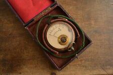 Antique  1930's VOLT meter with probe & original velour lined case (Working)