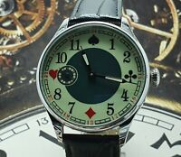Watch Marriage 3602 Playing Cards Dress Men's Wristwatch Vintage Style Soviet
