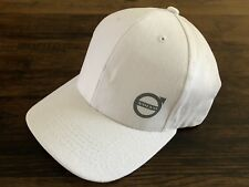 Genuine Volvo Adjustable Brushes Heavy Cotton Hat in White