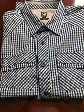 CAVI Mens Cotton Plaid Long Sleeve Button Down Pockets Shirt - Size L