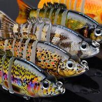 Multi Jointed Fishing Lure Swimbait Life Like Bass Pike Killer Sink Hook Tackle