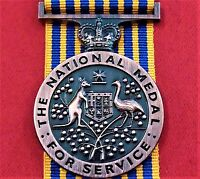 AUSTRALIA ARMY NAVY AIR FORCE EMERGENCY LONG SERVICE NATIONAL MEDAL REPLICA