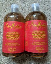 *2X* Shea Moisture Fruit Fusion Coconut Water Weightless Shampoo 384ml 13oz