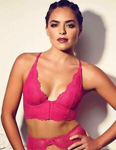 Gossard Women's Superboost Bralette Lace Deep V Bright Rose