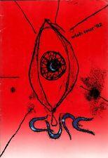 THE CURE 1992 WISH TOUR CONCERT PROGRAM BOOK / ROBERT SMITH / EX 2 NMT