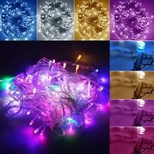 Mains Plug In String Fairy LED Lights Garden Halloween Xmas Tree Festival Decor