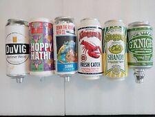Draft Beer Keg Bar Tap Handle Lot of 6 Can Style Narragansett Oskar Blues DuVig