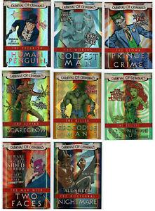 Cryptozoic Batman The Legend Carnival of Criminals FOIL CHASE Card SET CP1-CP8