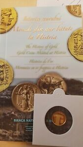 ROMANIA 10 Lei 2014 Gold coin PROOF Romanian Rumänien UNC HISTRIA Coins ISTROS R