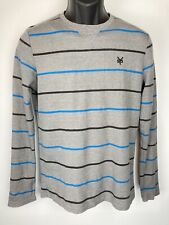 ZooYork Men's Long Sleeve Striped Shirt Size Small Primary Color Gray