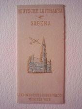 Aerei Deutsche Lufthansa Sabena London Wien Compagnie aeree Brossura Pubblicità