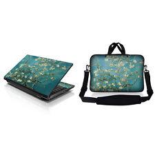 "17.3"" 17 Laptop Sleeve Bag w Shoulder Strap & Matching Skin Almond Trees 17-ZD51"
