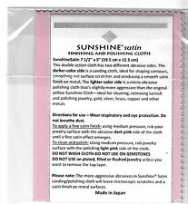 New Sunshine Satin Pink Cleaning Finishing Polishing Cloth Jewelry Silver Gold