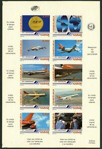 VENEZUELA #1360 Proof SPECIMEN Sheetlet Latin America Stamps Postage 1986 MNH NG