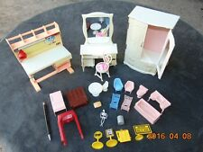 LARGE Lot Doll House Furniture chairs some Vintage MIX Plastic Various Scales 8""