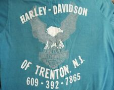 Vintage 60s Harley Dealership T-Shirt Chainstitch Small New Jersey Eagle Biker