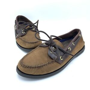 Sperry Top-Sider Men's 6.5M 61317 2-Tone Boat Shoes Brown Buck Leather