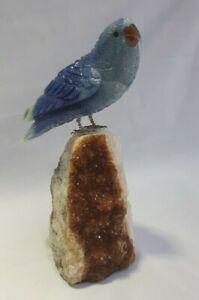 Lovebird sculpture handmade brazilian gemstones