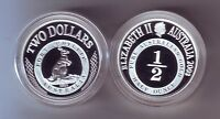 2003 SILVER Proof $2 Kangaroo Coin Port Phillip ex Masterpieces Set ..