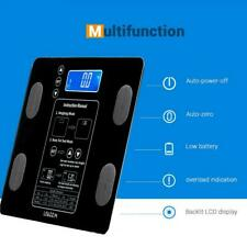 LEADZM 400lb 180kg Digital Body Fat Scale Health Analyser Fat Muscle BMI LCD