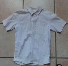 chemisette quiksilver 10 ans blanche motif carreau brodé