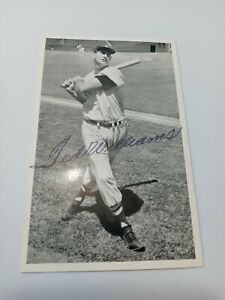 1950's TED WILLIAMS SIGNED PHOTO CARD