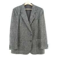 Harris Tweed 100% Laine Gris Veste Blazer Taille US/UK 42 Eu