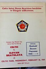 More details for celtic v slovan bratislava programme e/c/w/cup quarter final 1st leg  26/2/1964.