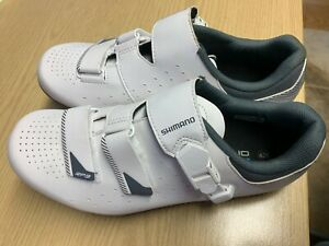 Shimano RP3 (RP301) SPD-SL Shoes, White, Size 42 Wide