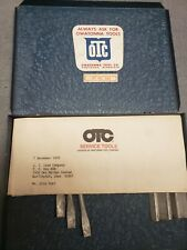 Vintage Owatonna Otc Internal Snap Ring Tool Set with Documentation 1939