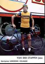 Jean Van der Stappen Team IJSBOERKE COLNAGO Signed Autograph cycling cyclisme